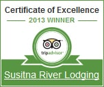 Talkeetna Lodging 5 Star Award